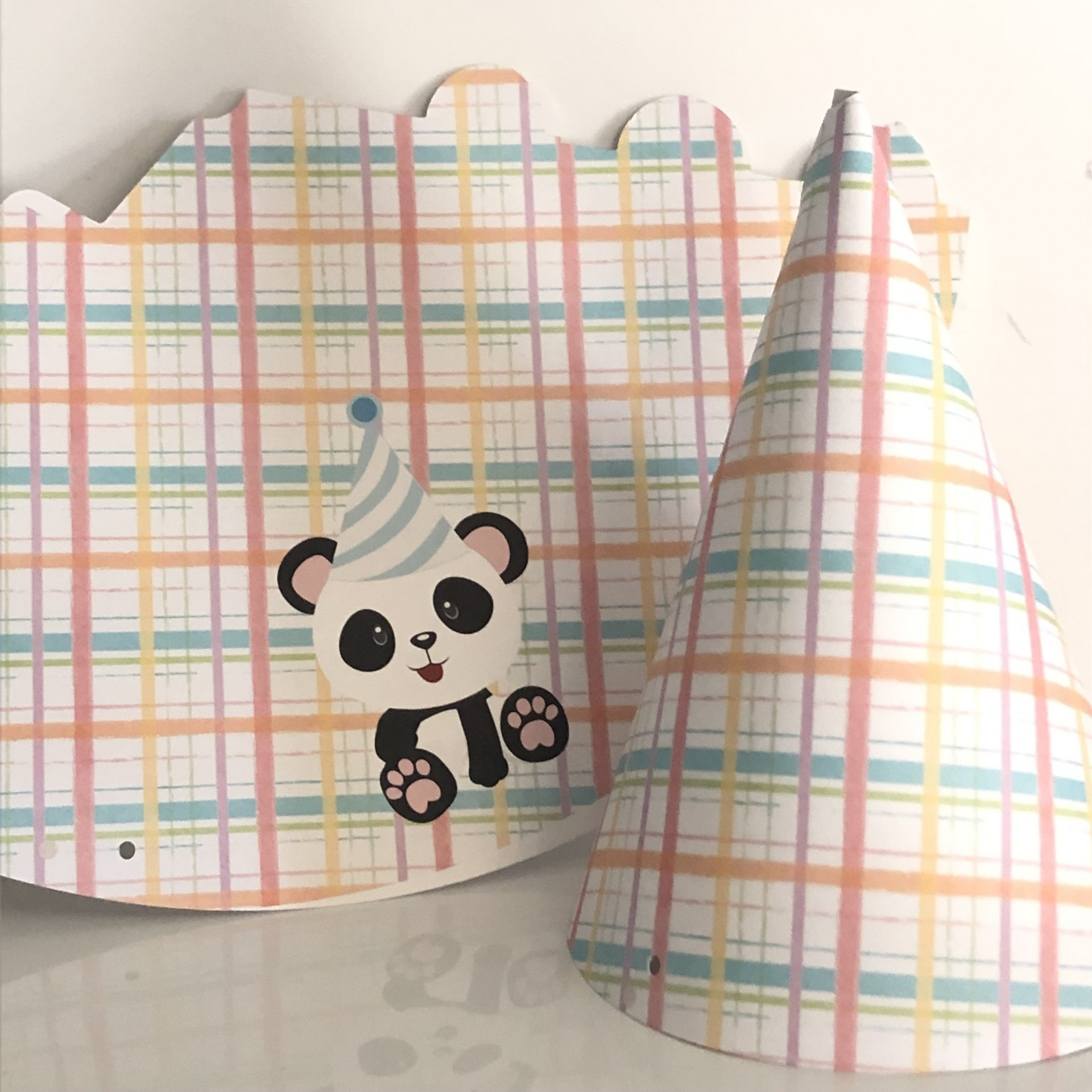 Chapéu infantil / Panda pack 6unidades