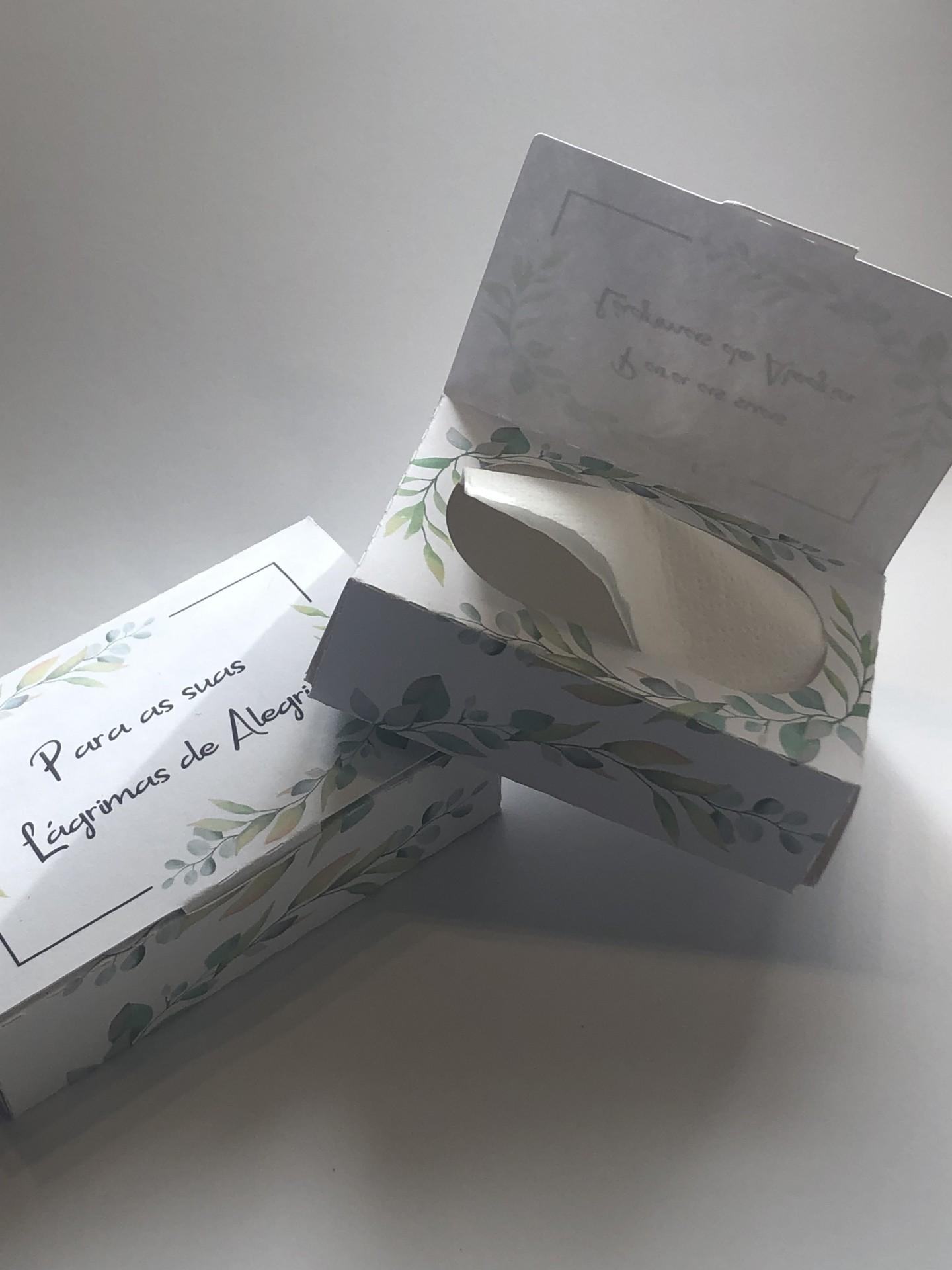Caixa de Lenços para 'Lágrimas de Alegria '