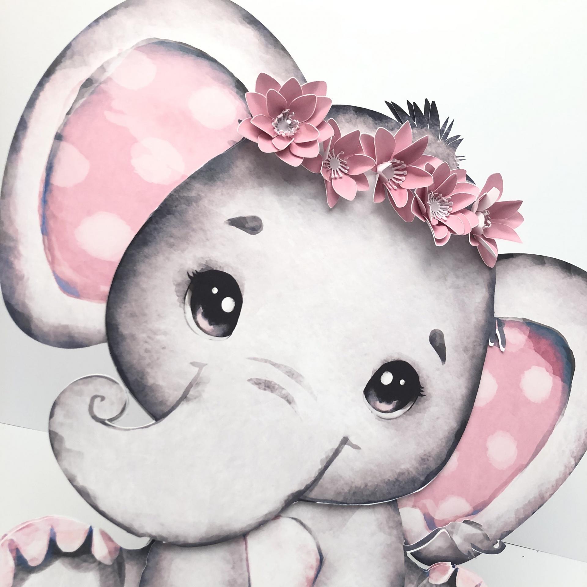 Elefante com flores