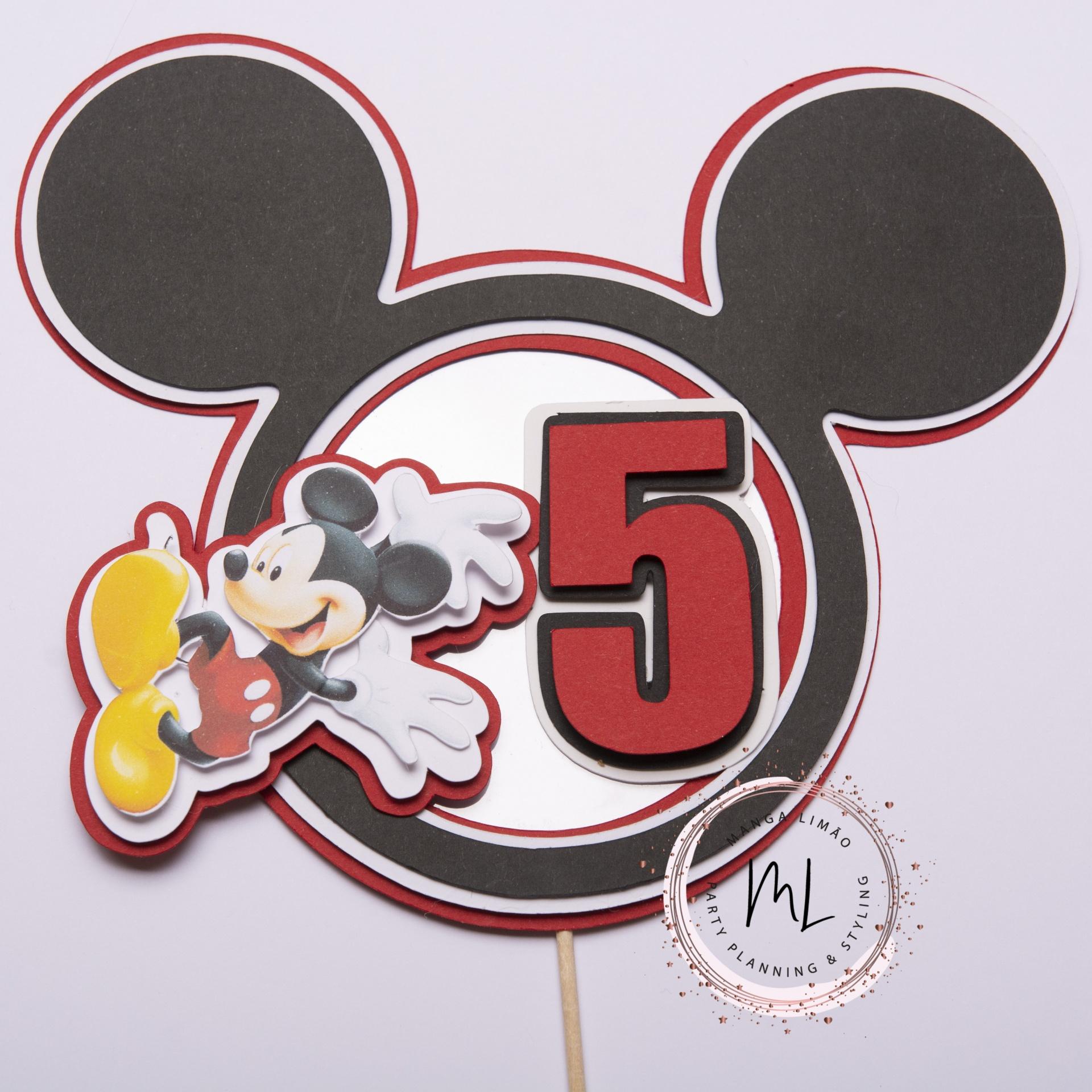 Topo de bolo Mickey