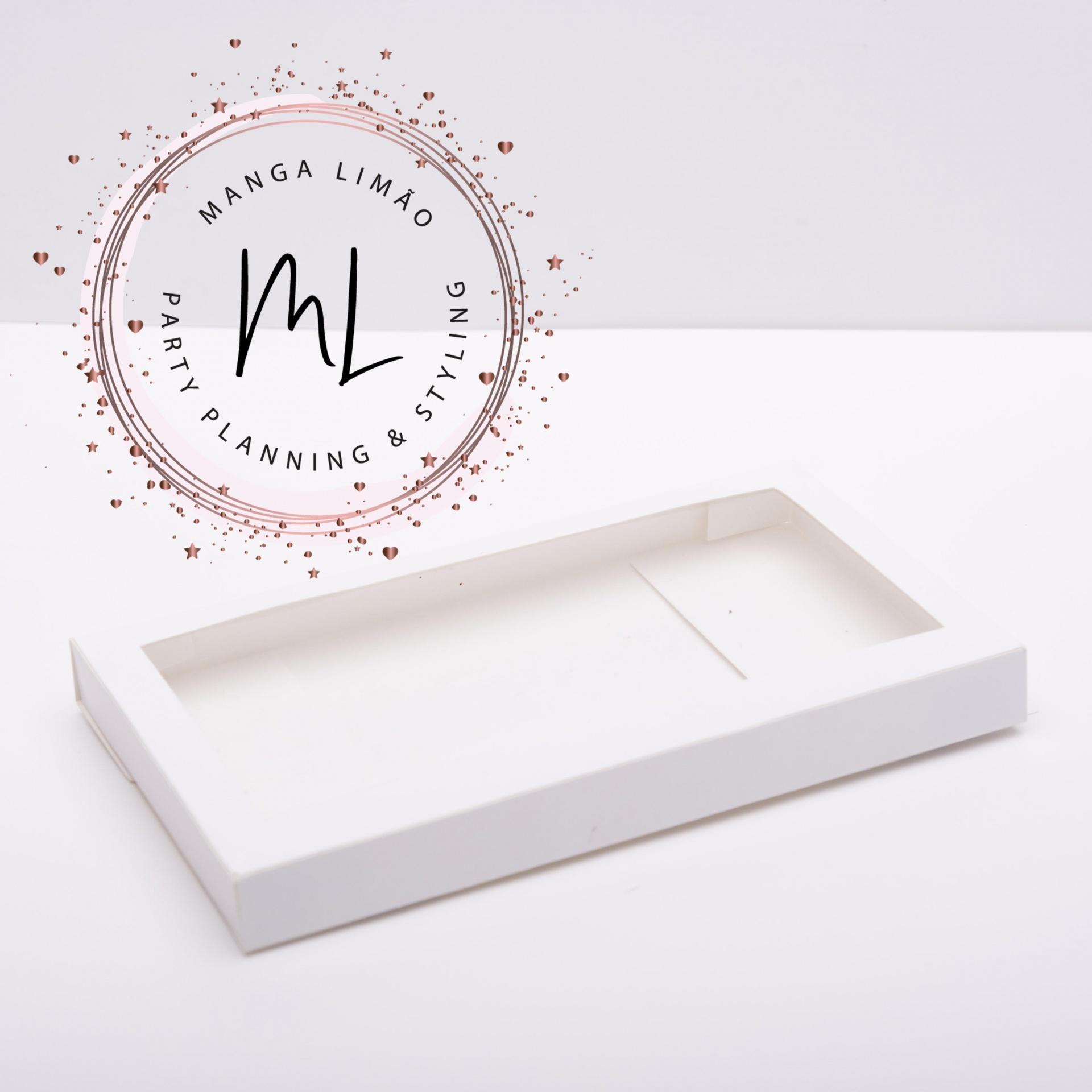 Caixa para tablete de chocolate