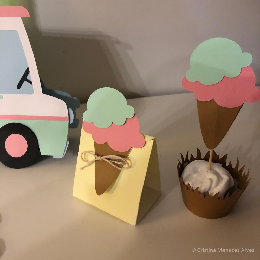 Caixa para doces Tema gelado