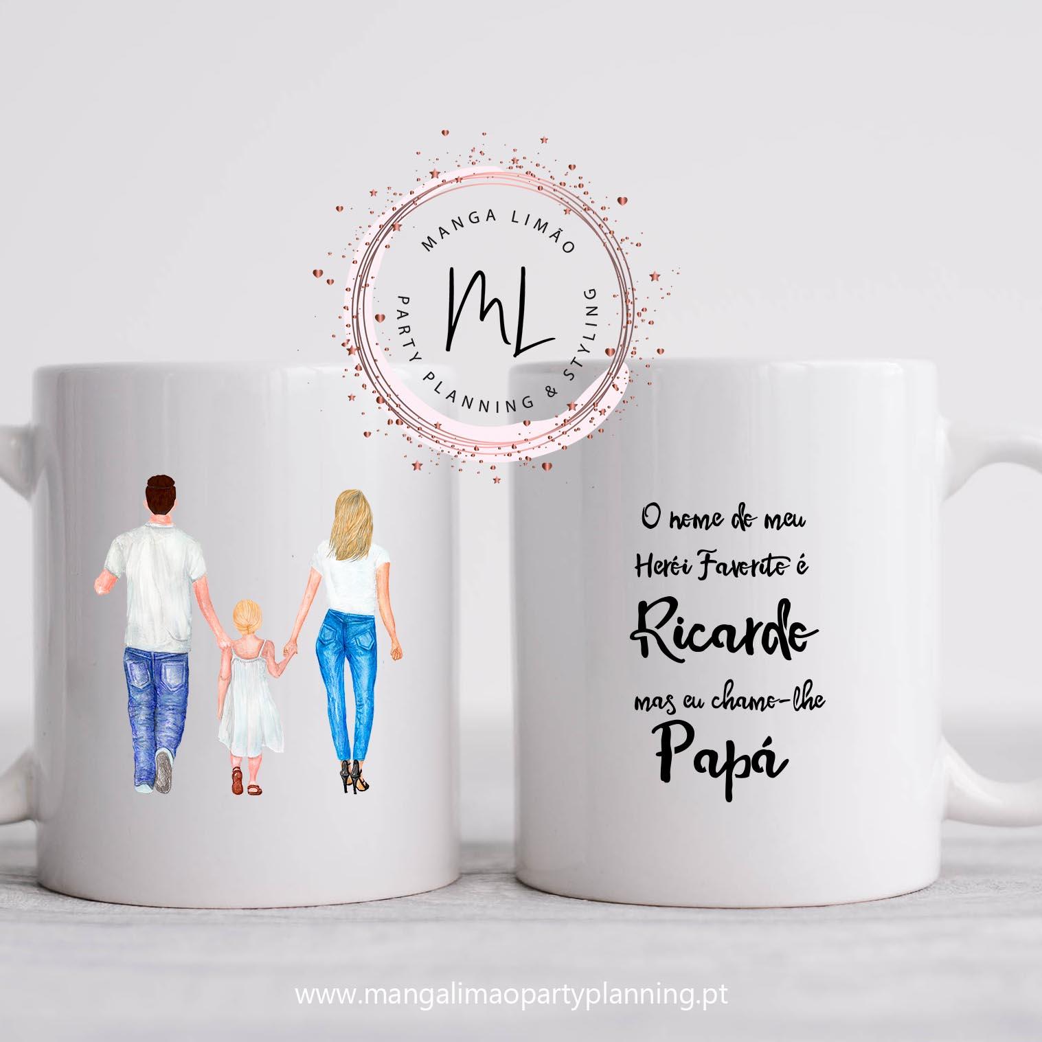 Caneca Pai/Familia Personalizada