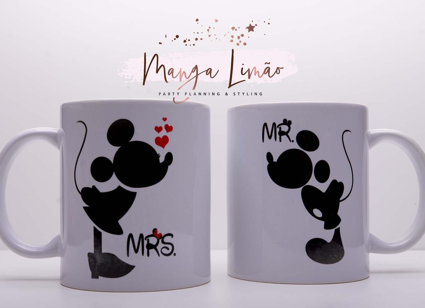 Conjunto 2 Canecas Mickey e Minnie