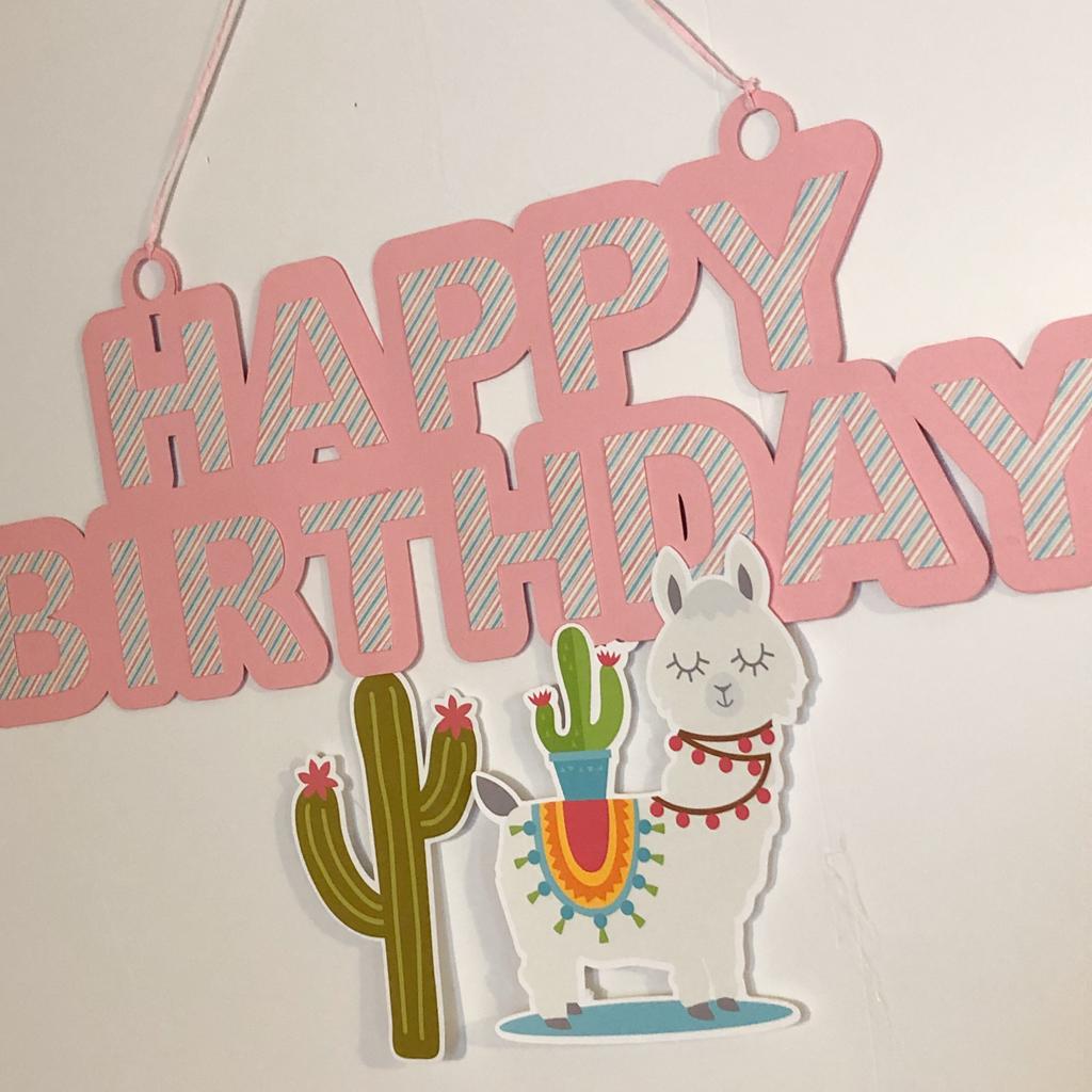 Faixa Happy Birthday Lhama