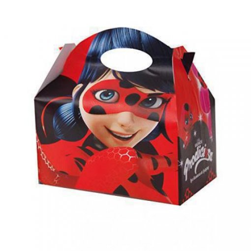 Caixa tpo lancheira LadyBug - pack 12 unidades