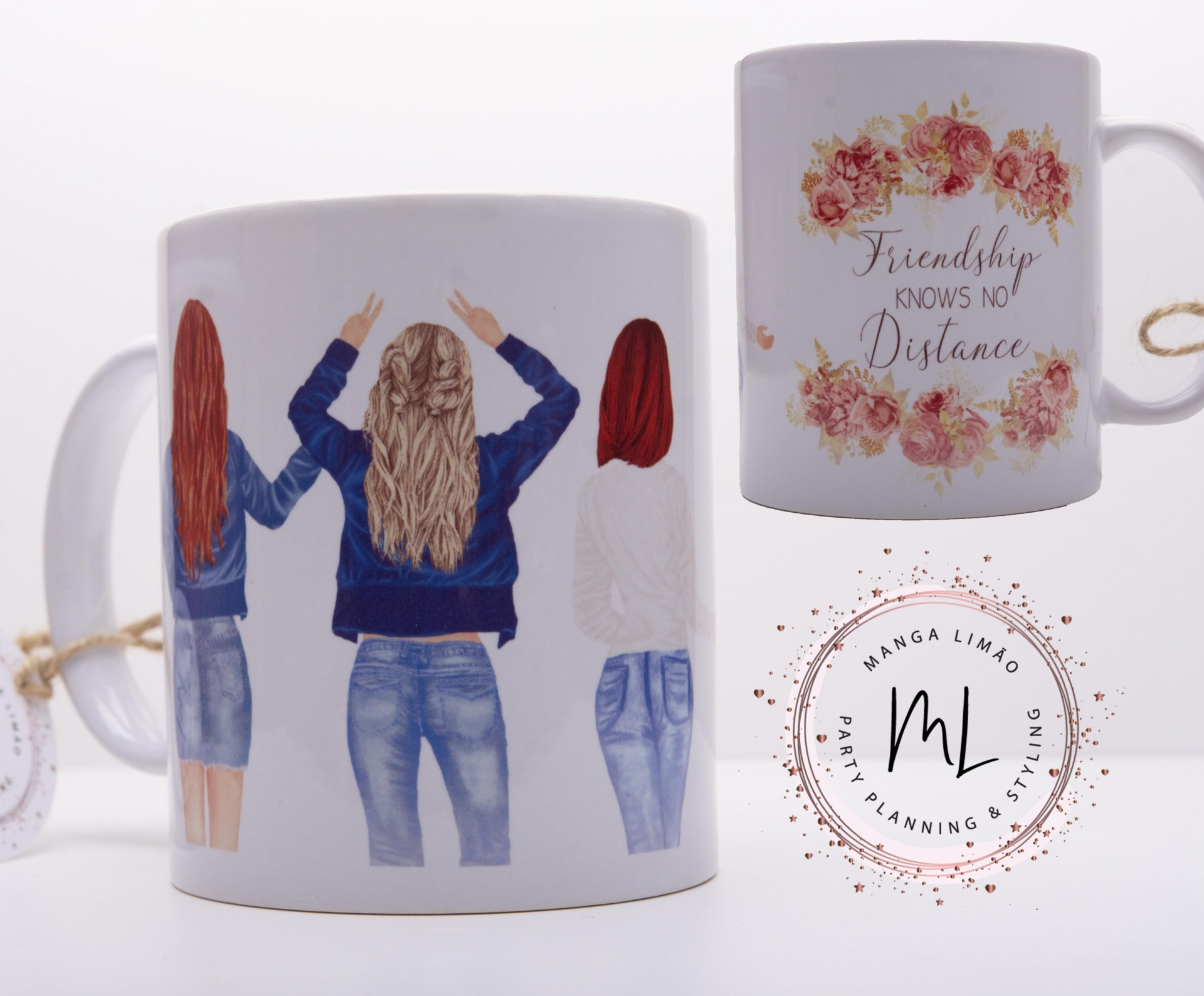 Caneca ' Friendship knows no distance'