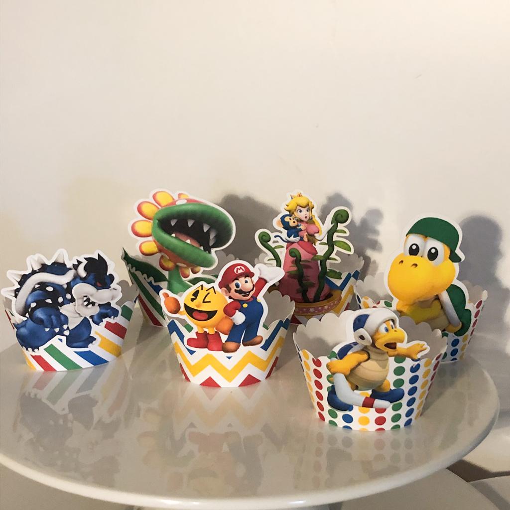 Cintas para Cupcakes Super Mario pack 8 unidades