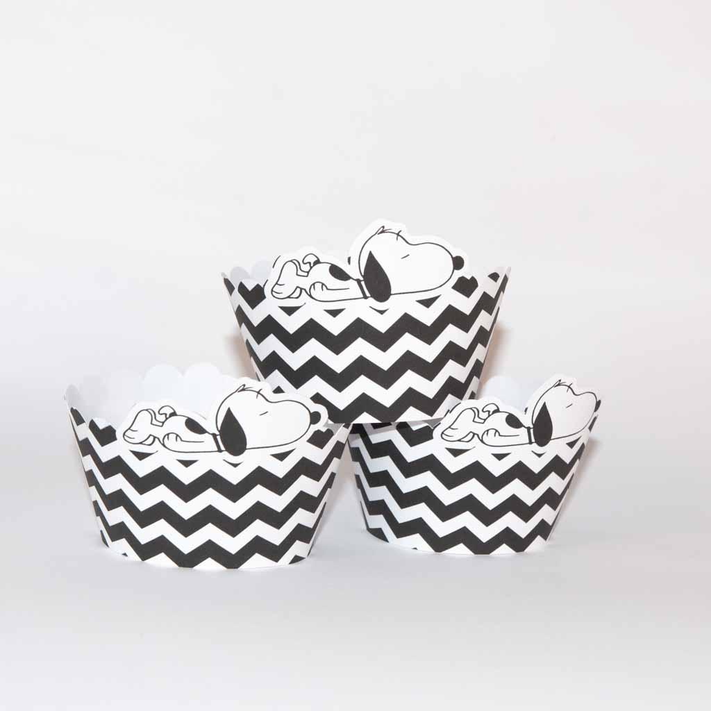 Conjunto de 6 cintas de cupcake snoopy