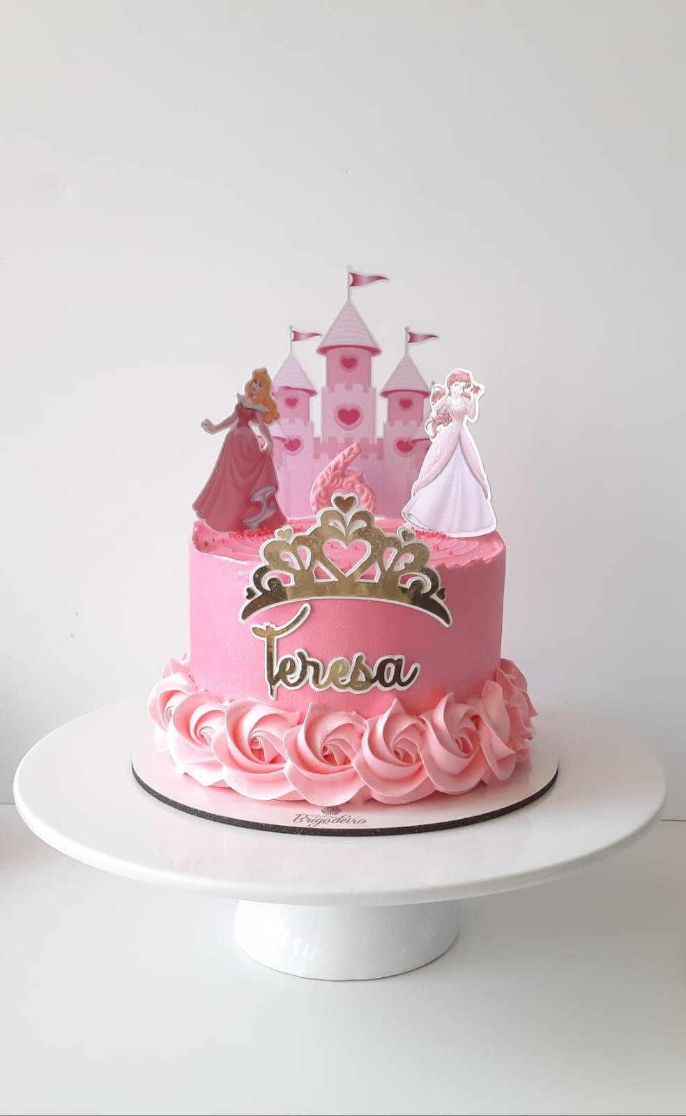 Topo de bolo Princesas da Disney