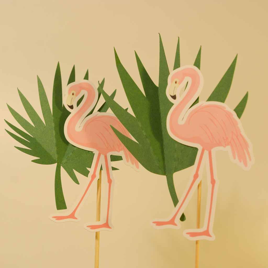 Conjunto 6 topos de Bolo Flamingo