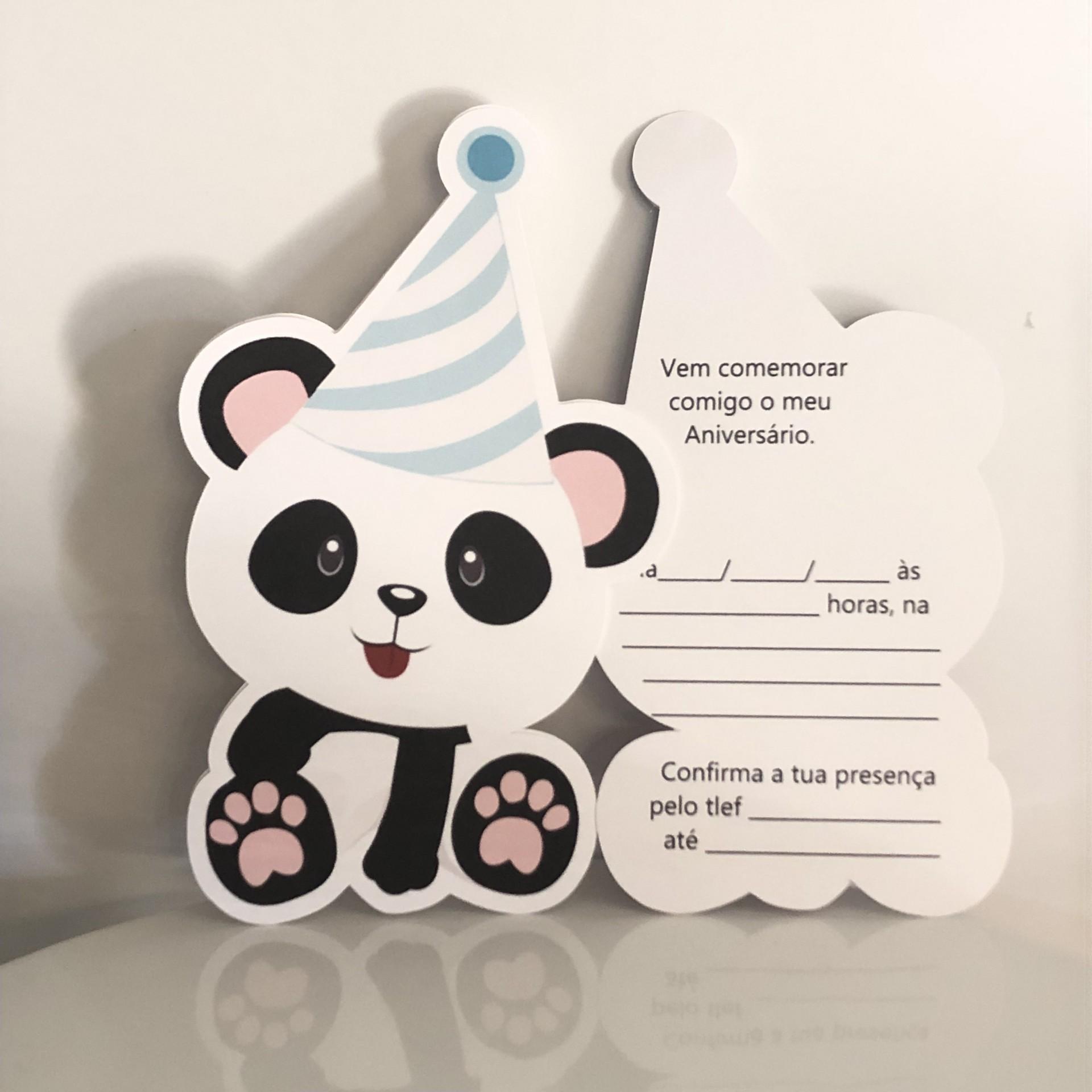 Convites de Festa Panda