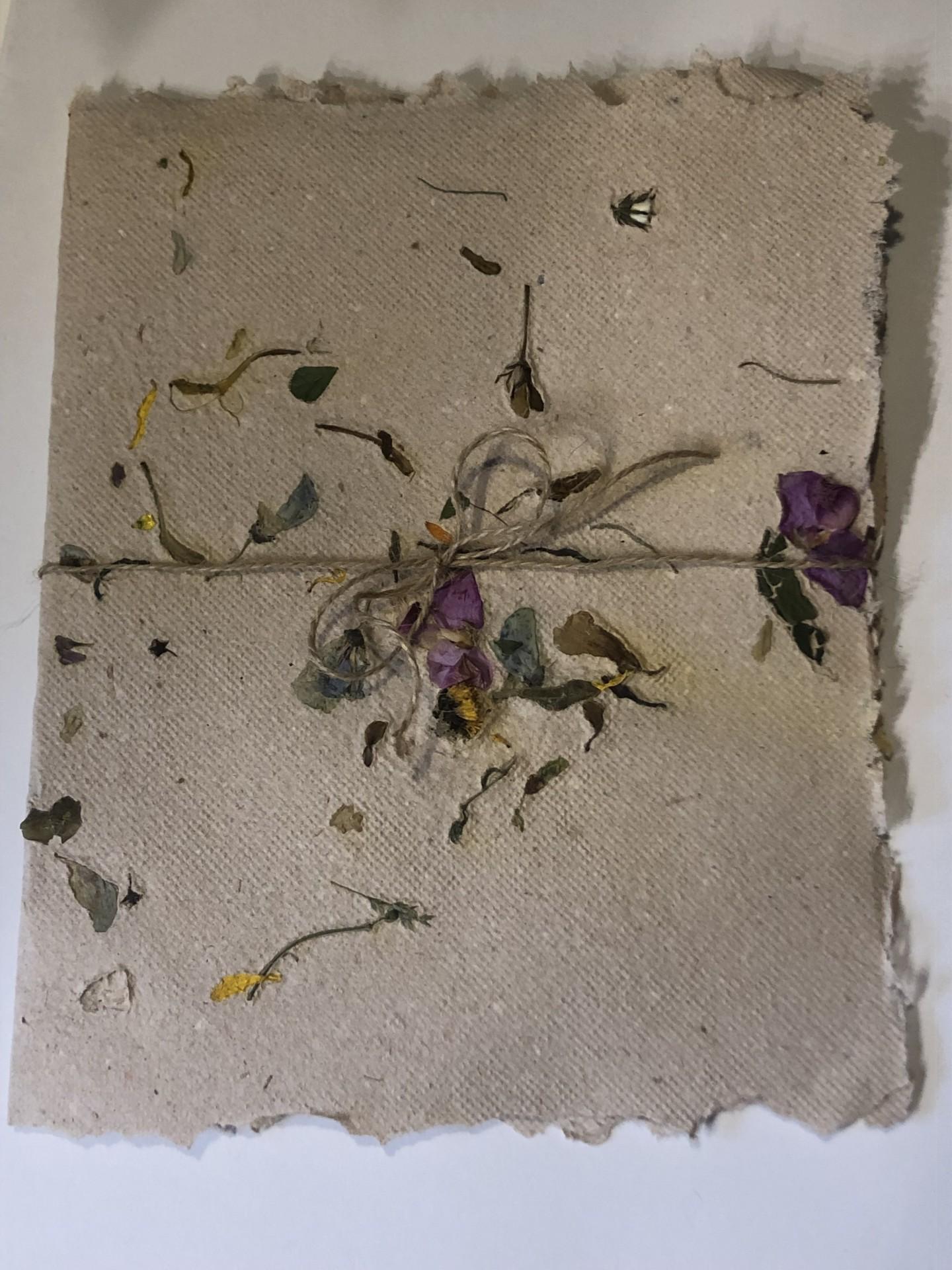 Capa convite em papel florido