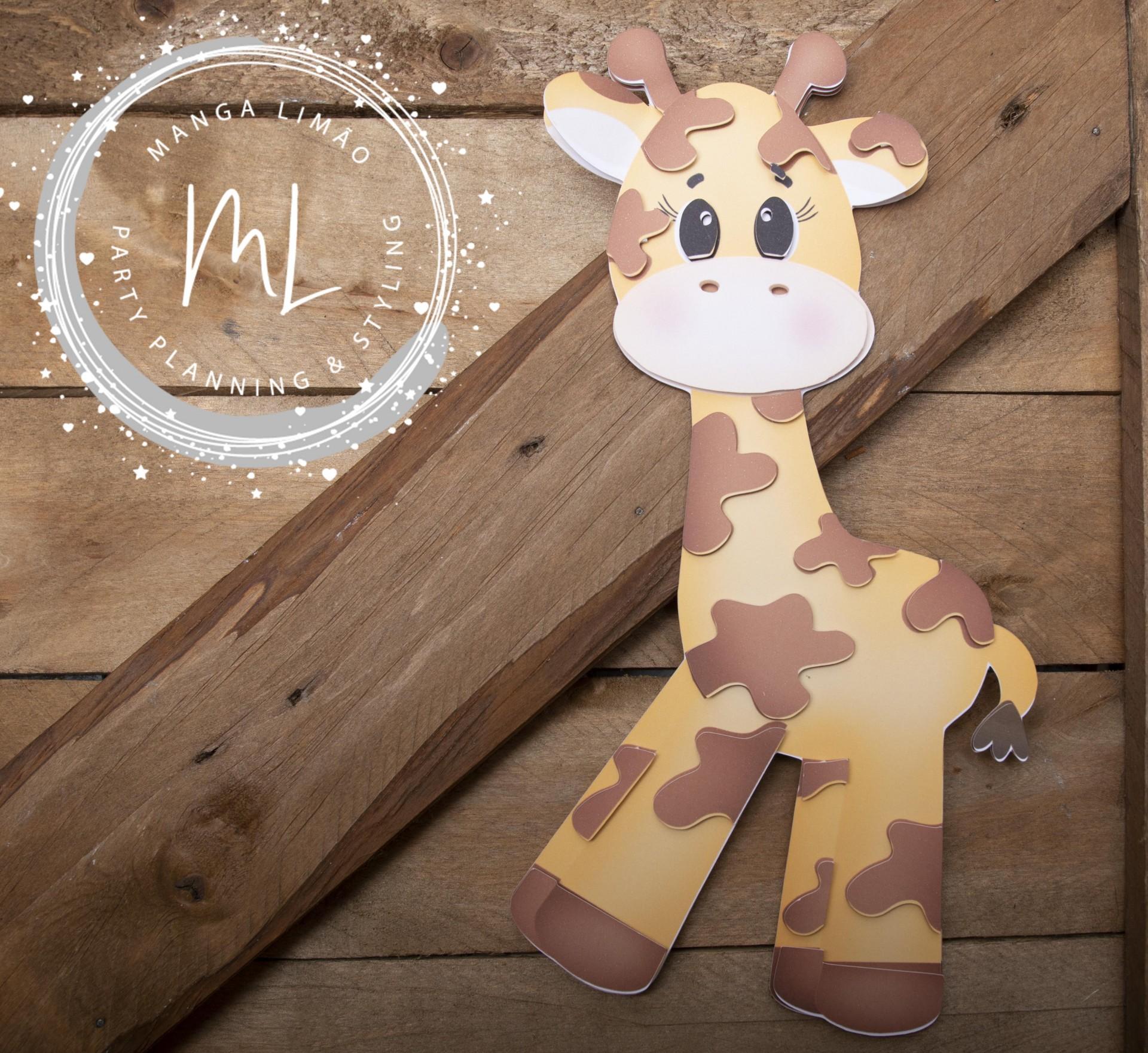 Girafa decorativa a 2 dimensões