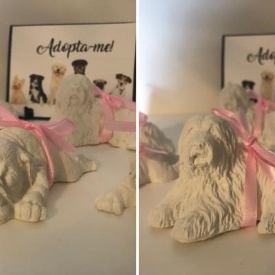 Conjunto de 6 Cães em Gesso Perfumado