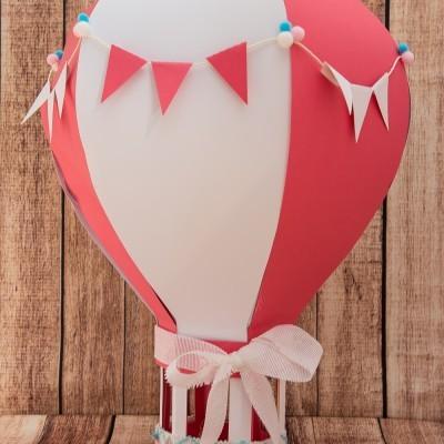 Balão de ar quente 3D