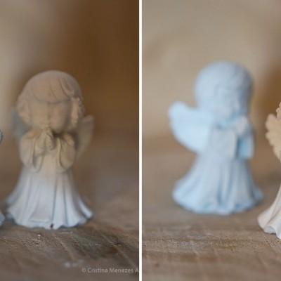 Anjo 3D em gesso perfumado