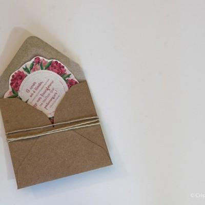 Postal Florido em Papel Vivo
