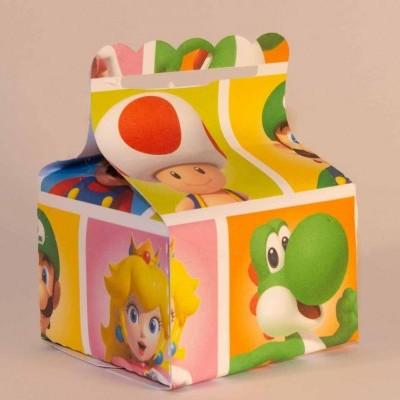 Conj 6 Caixas Super Mario