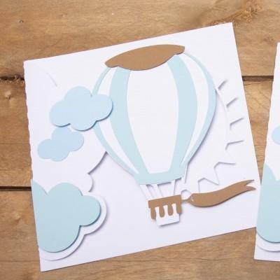 Convite Balão de ar quente Personalizado