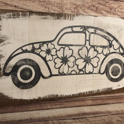 Quadro de madeira rustica - Carocha