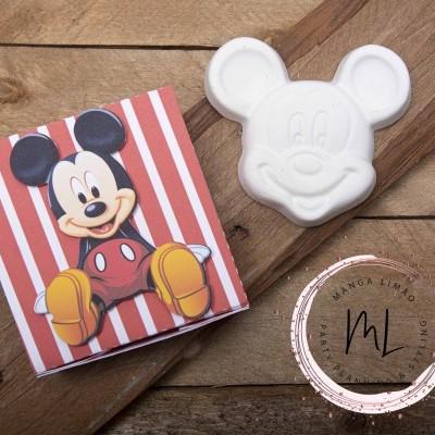 Mickey e Pluto em gesso perfumado