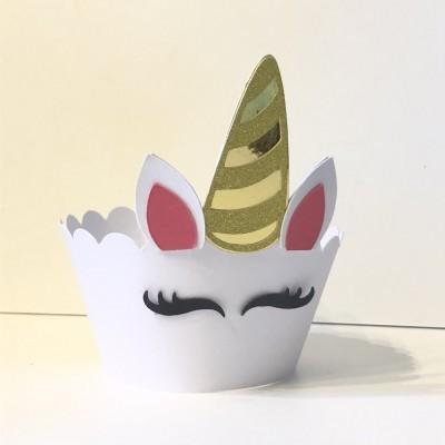 Cinta Cupcake unicórnio - Pack 8 unidades