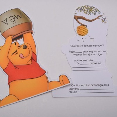 Convite winnie the pooh Pack 12 unidades