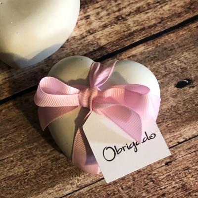 Coração em gesso perfumado