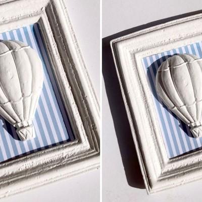 Moldura Balão de ar Quente em gesso perfumado
