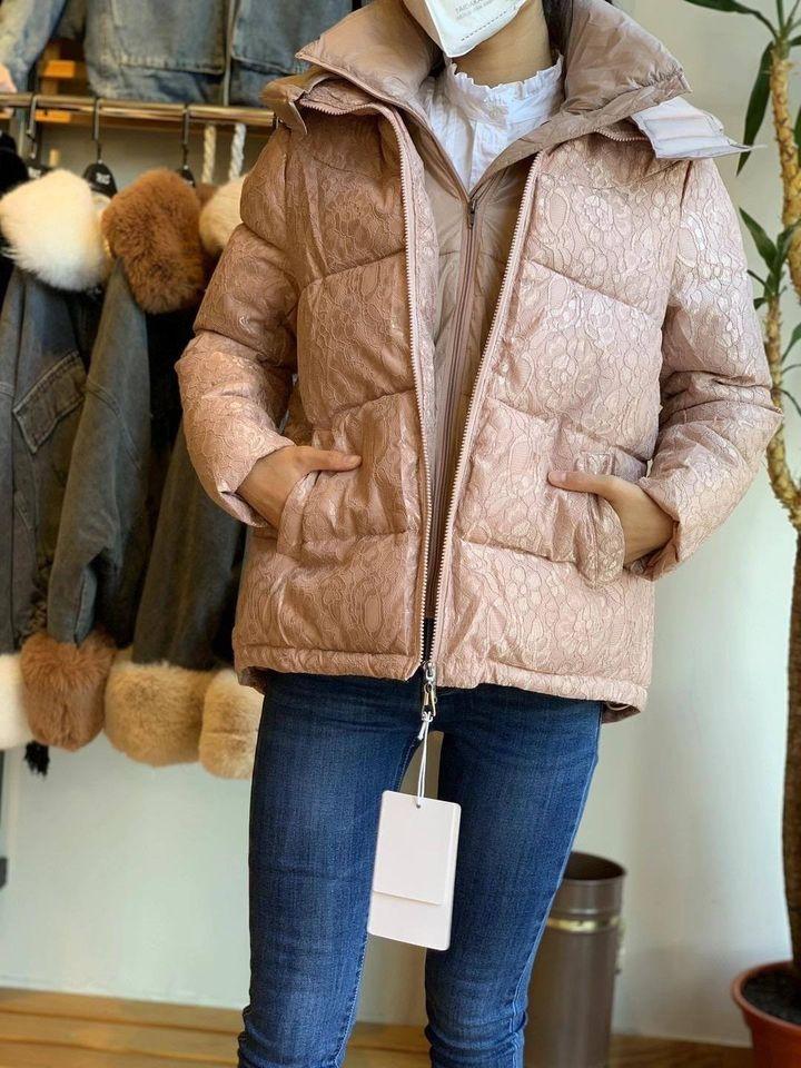 casaco acolchoado inverno mulher 2020 bege
