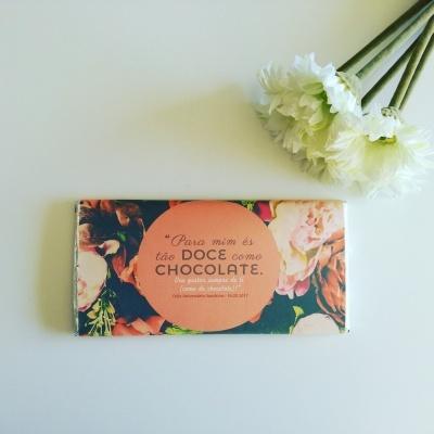 Para mim és tão Doce como Chocolate - Chocolate Personalizado