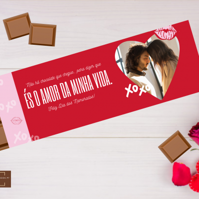 Chocolate Gigante És o Amor da Minha Vida - Personalizado com foto