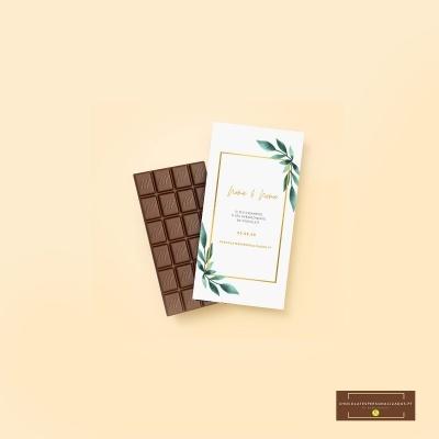 Mini Chocolates 20gr com design personalizado com o tema da sua festa de casamento