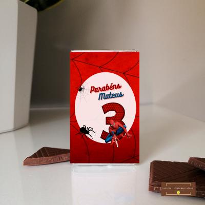 Lembranças Aniversário Homem Aranha em Mini Chocolates