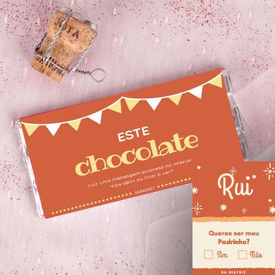 Convite em Chocolate para Padrinho