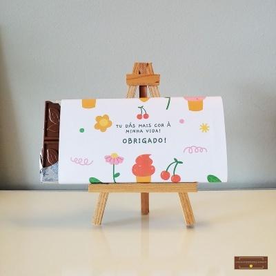 Chocolate Grande Agradecimento - Sabor Premium Texto personalizado