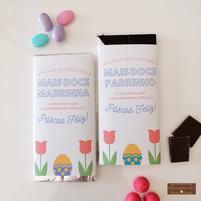 Chocolate Grande Personalizado para Madrinha ou Padrinho