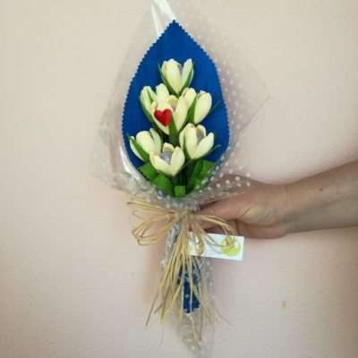 Ramo Bouquet de Amêndoas para Padrinhos ou Afilhados