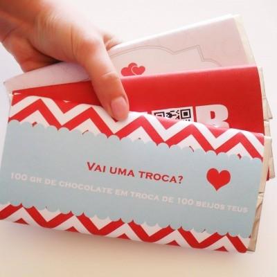 Pack 3 Chocolates com mensagens de Amor