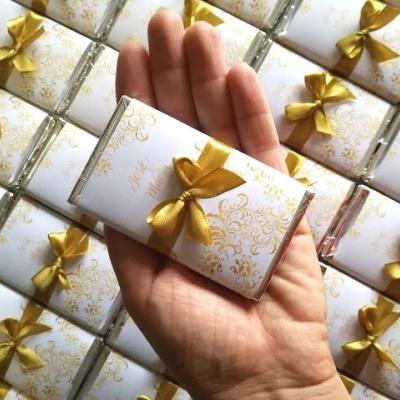 Lembranças Bodas de Ouro - Mini Chocolates 20gr personalizados