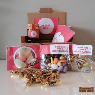 Sweet Box para Madrinha - Cabaz 58 doçuras e personalizado com Fotografia!