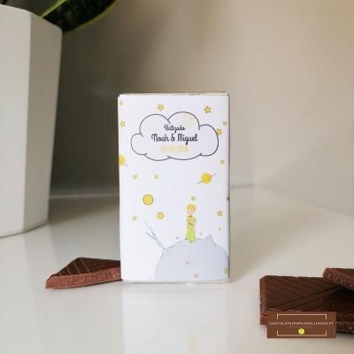 Mini Chocolates personalizados com tema O Principezinho de Saint-Exupéry