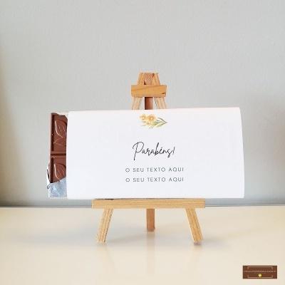 Chocolate Grande Parabéns - Sabor Premium Texto personalizado