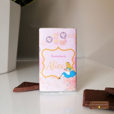 Mini Chocolates para Aniversário   Lembranças Alice no País das Maravilhas