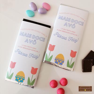 Chocolate Grande Personalizado para Avó ou Avô Páscoa Feliz