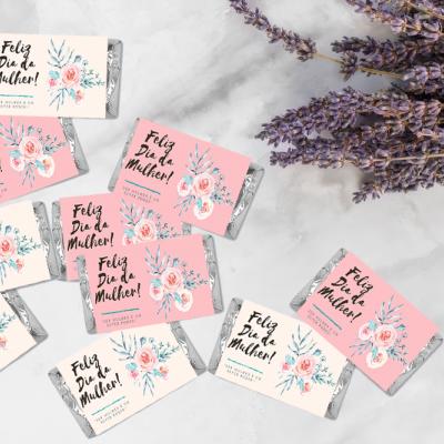 Mini Tabletes de Chocolate para o Dia da Mulher!