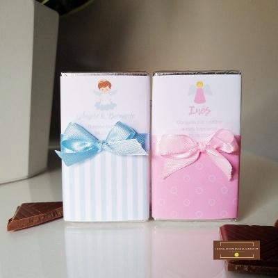 Mini Chocolates para Lembrança de Batismo | Anjo Menina ou Menino
