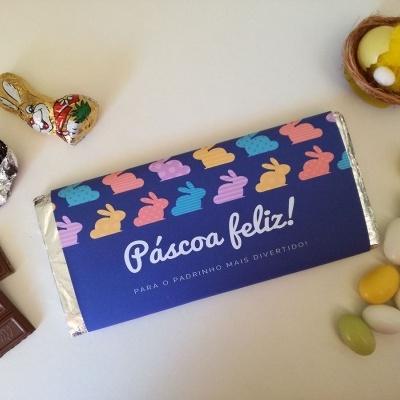 Chocolate Páscoa Feliz para Padrinhos e Madrinhas divertidos!