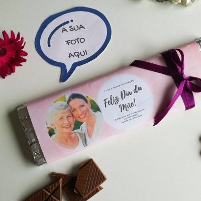 Chocolate Gigante para a Melhor Mãe - Personalizado com Fotografia